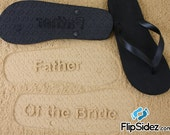 Custom Wedding Party Flip Flops Bridesmaid Bride Flower Girl Ring Bearer Groomsmen *Check size chart before ordering*