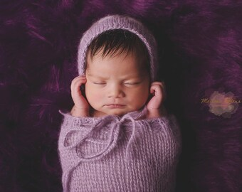 newborn knit pod with hat, photo props