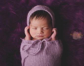 newborn knit pod with hat, photo props