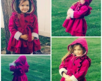 Girls Warm Fall/Winter Coat - Sizes 5 to 8