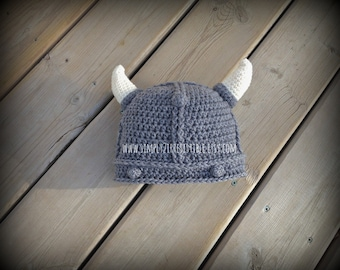 Viking Hat - Crochet Pattern 77 - US and UK Terms - PDF - Instant Download