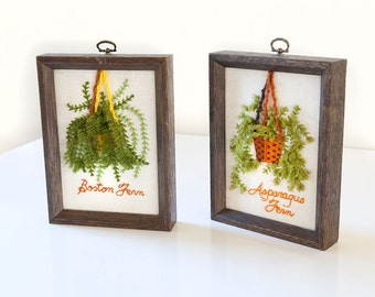 Hanging Plants Embroidery Art