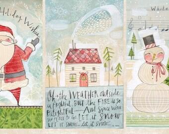 Blend Fabrics - Merry Stitches - A Wonderful Time - PANEL Fabric by Cori Dantini