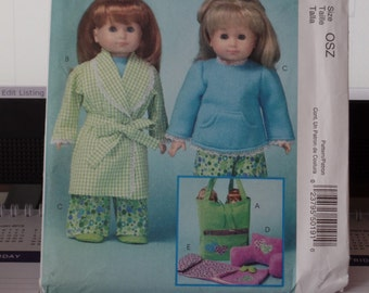 McCalls 5019   18 Inch Doll Clothes Pajama Party
