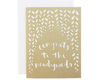 Congrats to the newlyweds Wisteria Laser Cut Wedding Card