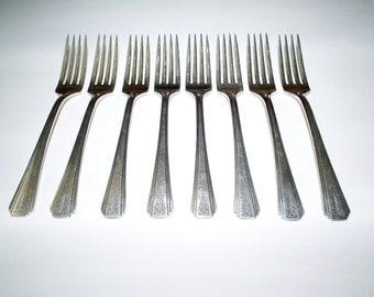 Vintage Clarion Oneida Community Par Plate Flatware Silverware set