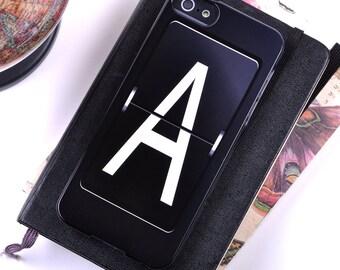 iPhone 7 7 + 5, 6, SE, 6PLUS cas. Alphabet personnalisé mécanique lettre / initiale pour téléphone iPhone