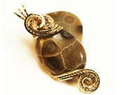 Sale / Petoskey Stone / Petoskey Stone Jewelry / Wire Wrapped Jewelry / Lake MI Petoskey Stone