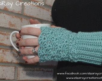 Fingerless Gloves - Crochet Texting Gloves - Wristwarmers