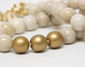8mm Natural  Creamy RIVER ROCK RIVERSTONE  Beads