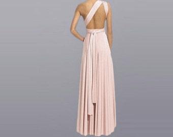 Bridesmaid Wrap Infinity Dress/ Multi Way Long Wedding Dress Custom order to your size