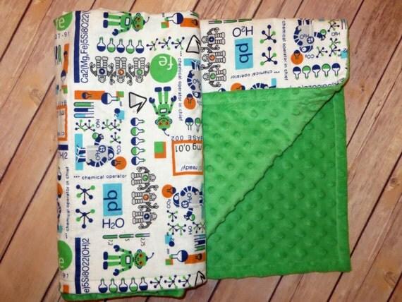 Robot Minky Blanket Science Blanket