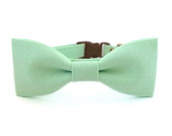 Mint Green Dog Cat Bow Tie Collar