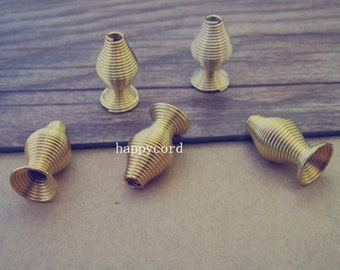 30pcs gold color Special-shaped buckle  9mmx16mm