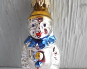 Vintage Germany Mercury Glass Clown Feather Tree Christmas Ornament