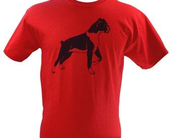 Boxer Dog T-Shirt Screen Printed Men's S M L XL 2XL