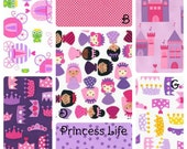 Toddler Bedding Princess Life tiara crown castle pink purple little girl bedding