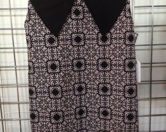 Black and Off White Scroll Girls Dress Size 5T