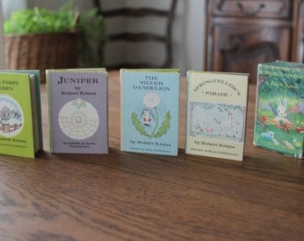 Bunny's Nutshell Library 1965 Complete Set Miniature Books by Robert Kraus