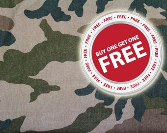 Buy 1 Get 1 FREE Camouflage Fabric Fat Quarter