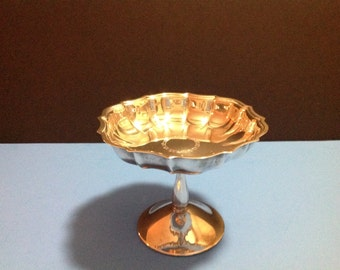 Vintage Chippendale silver compote 6397