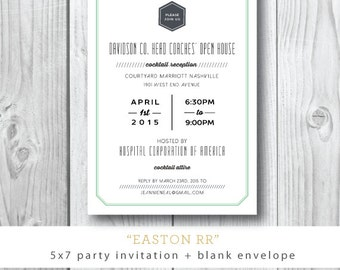 Easton RR Printed Invitations | Corporate Cocktail, Birthday, Engagement Party  | Printed or Printable by DarbyCards