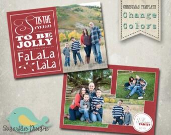 Christmas Card Template PHOTOSHOP TEMPLATE - Family Christmas Card 118