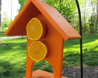 JCs Wildlife Oriole, jelly and Double Fruit Feeder Recycled Lumber Free Shipping