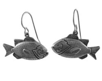 Sunfish Pewter Dangle Earrings