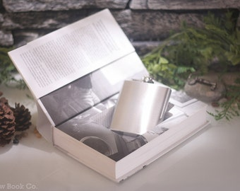 Hollow Book Safe and Hip Flask - Steve Jobs