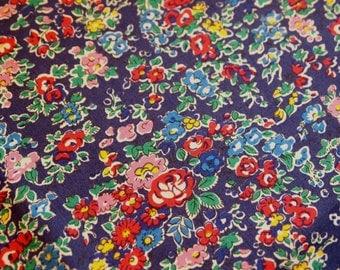 Liberty tana lawn fabric - Tatum F, blue floral fabric, fat eighth, liberty of london bule floral fabric, liberty art fabric, 1/8 yard
