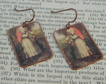 Fairy tale jewelry Red Riding Hood art jewelry mixed media jewelry