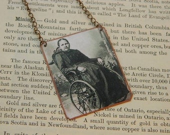 Artist necklace Margarete Steiff  mixed media jewelry Womens History