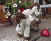 Ginger: Vanilla Buckskin Momma Pony Girls/Baby Toy All Natural Waldorf Stuffed Animal