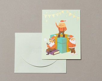 Santa's Little Helpers Christmas Cards (Single)