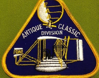 Fabric Patch Experimental Aircraft Association Antique Classic Division Embroidered Badge