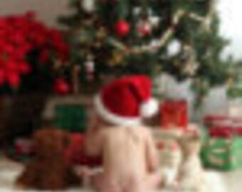 Crochet Baby Santa Hat; Father Christmas