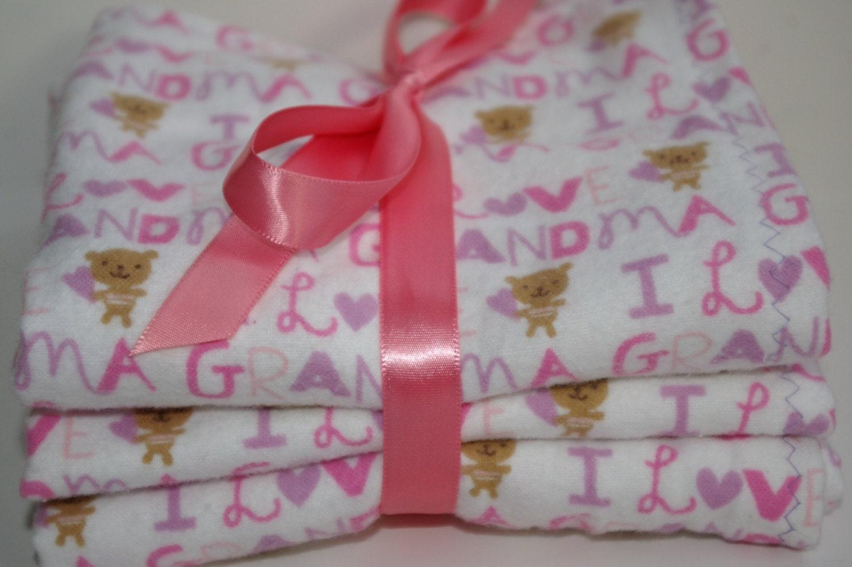 Baby girl burp cloths flannel burp cloths baby by
