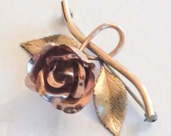 Krementz Rose Brooch Retro Vintage Jewelry, Gift for Her SUMMER SALE