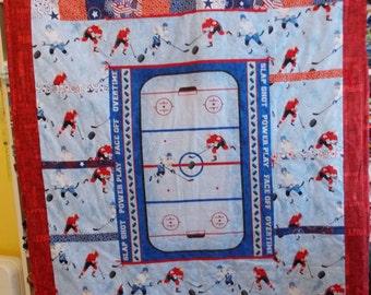 Hockey Quilt Etsy