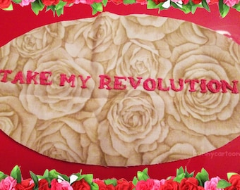 Revolutionary Girl Utena REVOLUTION hand embroidered oval patch