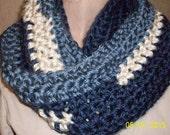 INFINITY SCARF CROCHET Womens super bulky scarf Blues womens fashion access outerwear, bulky scarf, crochet scarf high fashion