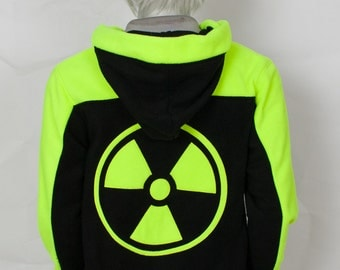 Neon Rave Hoodie (Yellow) , Costume, Cosplay, Adult Size, Hand-made