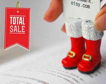 SALE! Santa Claus boots bookmark. Red Christmas boots. Gift for kids, children, all
