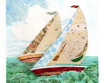 Sailboats Laser Print