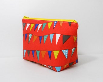 Small Makeup Bag, Flags, Cosmetic Bag, One of a Kind