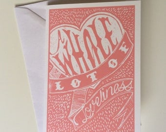 A Whole Lot of Loveliness greetings card