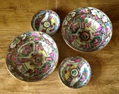 Bowls and Dipping Dishes, Ornate Painted from Japan