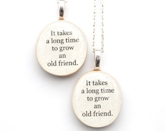 Best friend necklace set , best friend gift,  friendship gift, unique necklace graduation gift, gift for best friend, going away gift