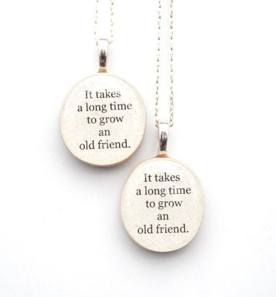 Best friend necklace set , best friend gift,  friendship gift, unique necklace graduation gift, gift for best friend, going away gift